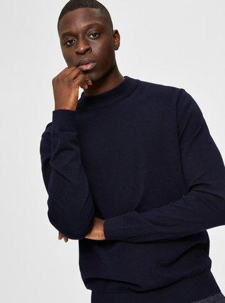 Tmavomodrý sveter s prímesou kašmíru Selected Homme