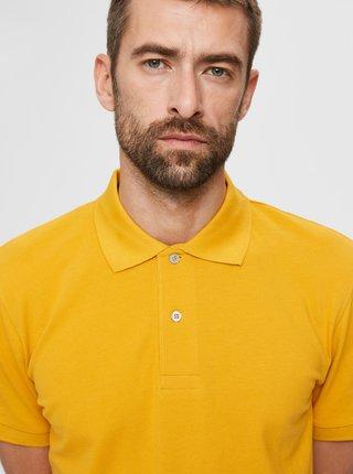 Žluté polo tričko Selected Homme