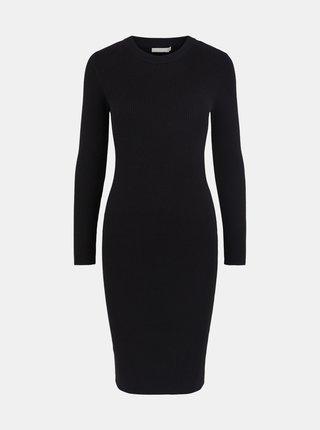 Černé pouzdrové šaty Pieces