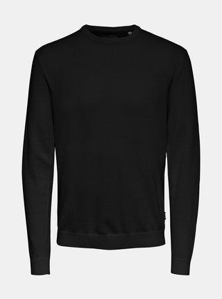 Čierny basic sveter ONLY & SONS