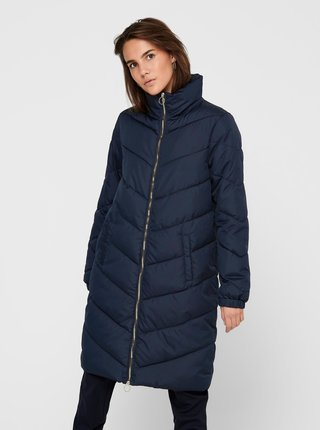 Modrý prošívaný kabát Jacqueline de Yong Finno