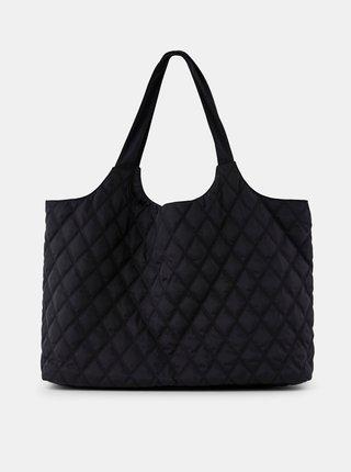 Čierna prešívaná taška Pieces