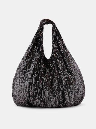 Čierna flitrovaná taška Pieces