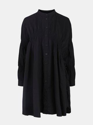 Čierne voľné košeľové šaty Pieces