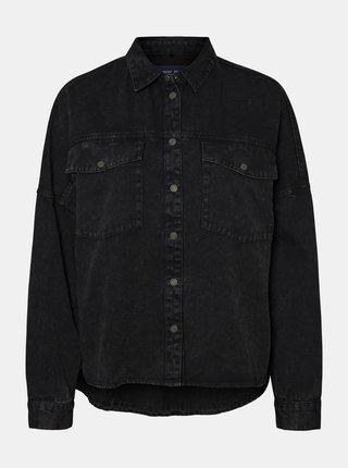 Čierna rifľová košeľa Noisy May Rica