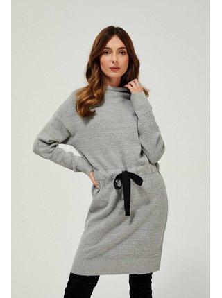 Moodo sivé svetrové šaty