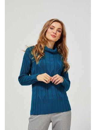 Moodo petrolejové sveter