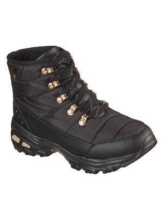 Skechers černé zimní boty Weekender Puffer Black/Gold