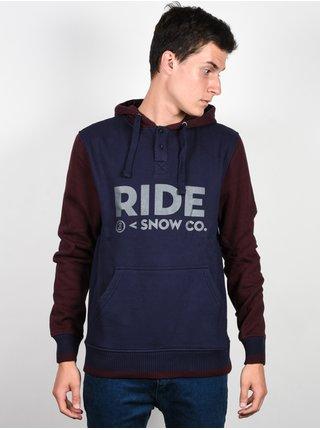 Ride Logo Henley NAVY mikiny přes hlavu pánská - modrá