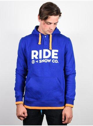 Ride Logo Henley DARK COBALT mikiny přes hlavu pánská - modrá