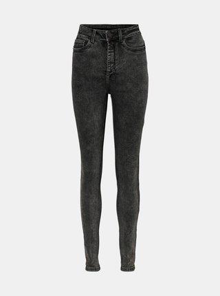 Tmavě šedé skinny fit džíny Noisy May