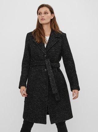Tmavě šedý vlněný kabát VERO MODA