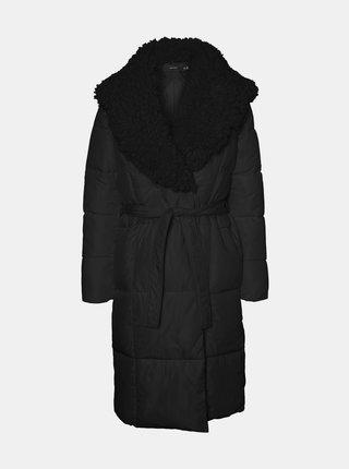 Čierny zimný prešívaný kabát VERO MODA