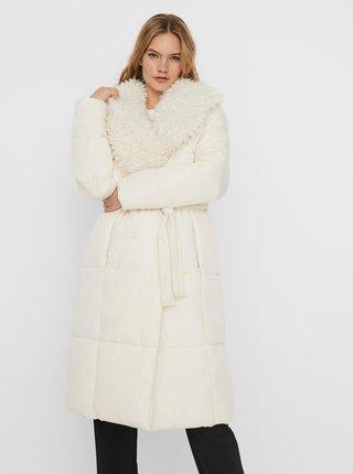 Krémový zimní prošívaný kabát VERO MODA