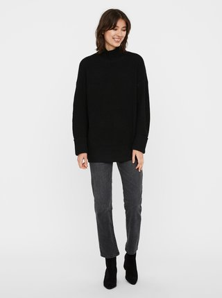 Černý dlouhý svetr se stojáčkem VERO MODA