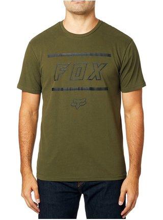 Fox Midway Airline Olive Green pánské triko s krátkým rukávem - zelená