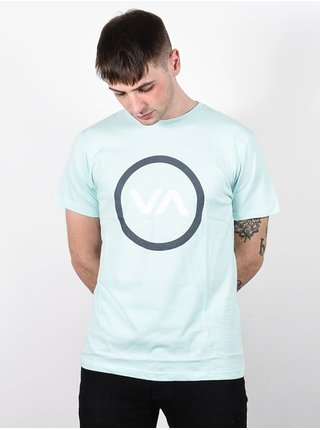 RVCA VA MOD DUSTY AQUA pánské triko s krátkým rukávem - modrá
