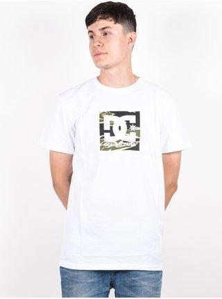 Dc SQUARE STAR 2 SNOW WHITE/CAMO pánské triko s krátkým rukávem - bílá