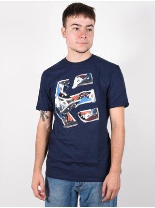 Etnies Kicks DARK NAVY pánské triko s krátkým rukávem - modrá