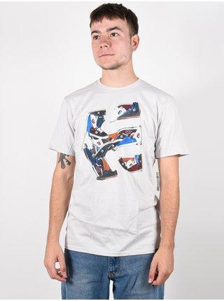 Etnies Kicks SILVER pánské triko s krátkým rukávem - bílá