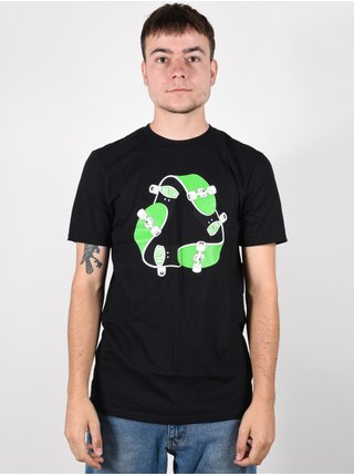 Etnies Recycle Sk8 black pánské triko s krátkým rukávem - černá