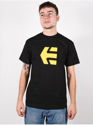 Etnies Icon black pánské triko s krátkým rukávem - černá