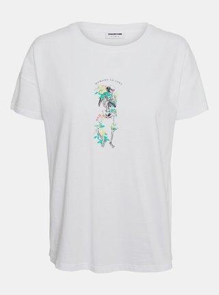 Biele tričko Noisy May Command