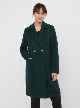 Tmavozelený zimný kabát VERO MODA