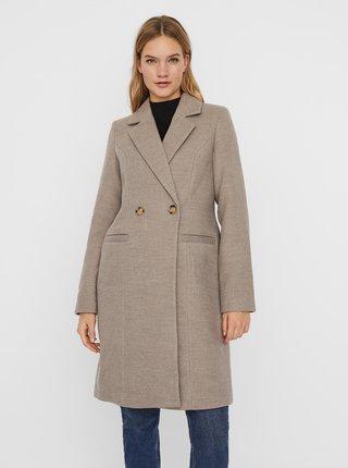 Béžový zimný kabát VERO MODA