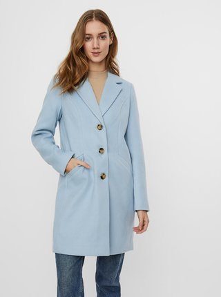 Světle modrý kabát VERO MODA