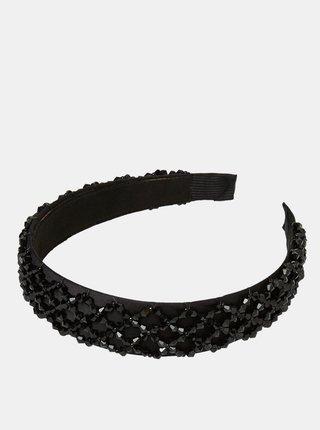Čierna čelenka s ozdobnými korálkami VERO MODA