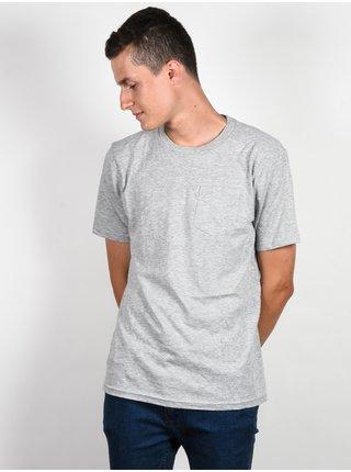 Ride Under Gray Heather pánské triko s krátkým rukávem - šedá