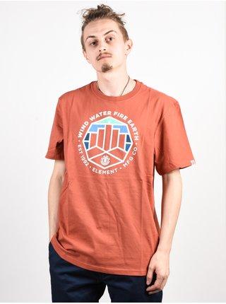 Element PASSAGE ETRUSCAN RED pánské triko s krátkým rukávem - červená