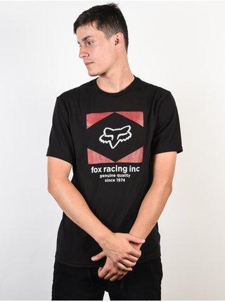 Fox Studio black pánské triko s krátkým rukávem - černá