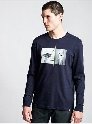 Element OSTRICH APSE ECLIPSE NAVY pánské triko s dlouhým rukávem - modrá