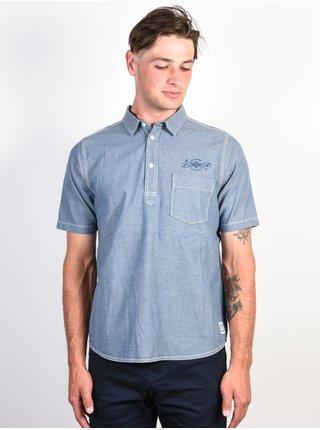 Element BINER indigo košile pro muže krátký rukáv - modrá