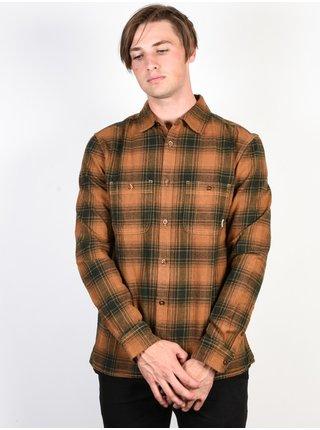 Element MILLER GOLDENBROWN pánské košile s dlouhým rukávem - hnědá