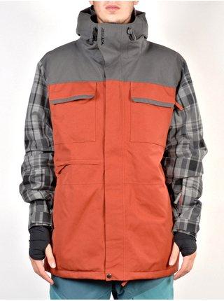 ARMADA Prospect Ins CHARCOAL zimní pánská bunda - oranžová