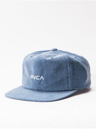 RVCA TONALLY mid blue kšiltovka s rovným kšiltem - modrá
