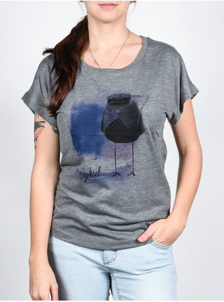 Ezekiel Polkabird PREH dámské triko s krátkým rukávem - šedá