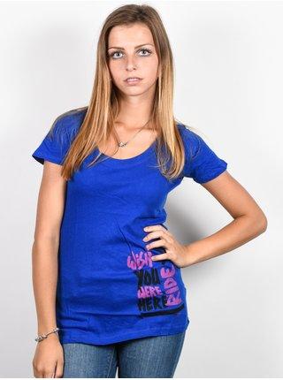Ride Wish You Were Here royal blue dámské triko s krátkým rukávem - modrá