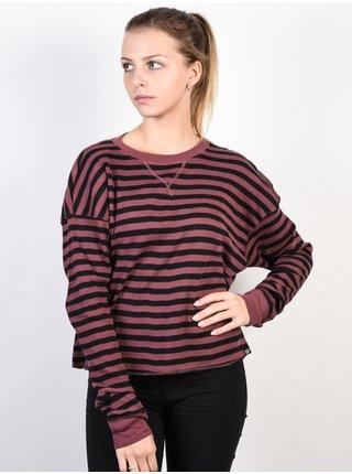 Fox Striped Out ROSE dámské triko s dlouhým rukávem - červená
