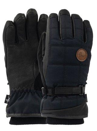 POW Ravenna black zimní prstové rukavice - černá