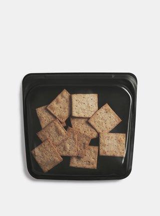 Čierne silikonové vrecúško na potraviny Stasher Sandwich 450 ml
