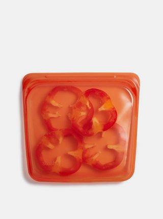 Oranžové silikonové vrecúško na potraviny Stasher Sandwich 450 ml