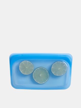 Modré silikonové vrecúško na potraviny Stasher Snack 293 ml