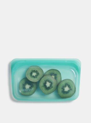 Zelené silikonové vrecúško na potraviny Stasher Snack 293 ml