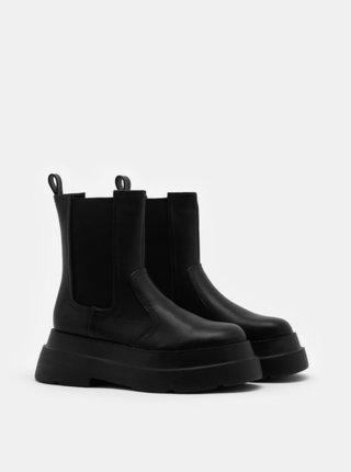 Čierne chelsea topánky na platforme TALLY WEiJL
