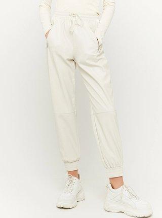 Krémové koženkové nohavice TALLY WEiJL