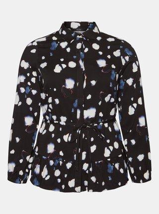 Čierna vzorovaná košeľa VERO MODA CURVE